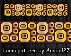 Etsy の Bead loom pattern  Square stitch pattern   by Anabel27shop