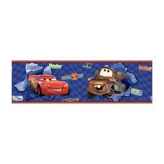 Disney Kids Cars McQueen & Mater Wallpaper Border, Blue