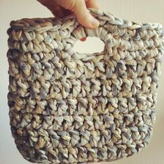 tejemundos: Bolso de trapillo #crochet #handmade.