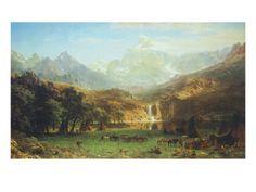 Albert Bierstadt. Perhaps my favorite painting of all time by my favorite artist.