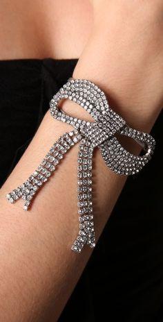 bow bracelet- @Kasey Fulgham and her rhinestone bows