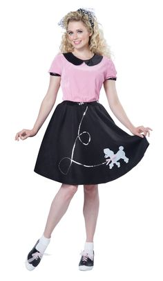 50s Hop with Poodle Skirt Costume @Fantasypartys