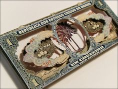 世界の紙幣を素材にした3Dコラージュ作品「Uns Trocados」 - DNA