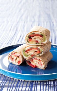 Cheesecake Fruit Wraps: Cream cheese is mixed with sugar, (I'll use stevia or agave), and then spread on whole tortilla. Roll up with assorted fruits...