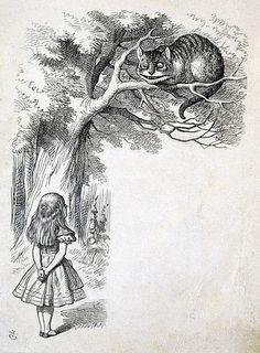 Cheshire Cat / Le chat de Cheshire  1865  Thomas Dalziel,  1823-1906  British Museum, London