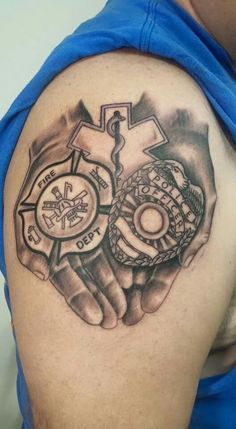 Police, Firefighter, EMS tattoo