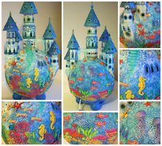 droomwereld van klei - ocean themed paperclay dreamworld lamp