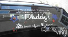 Military Homecoming Decal by WhiteRabbitVinyl on Etsy, $20.00