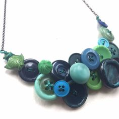 Under the Sea: Blue Teal Green Cool Colors by buttonsoupjewelry
