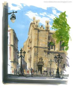 EDUARDO BAJZEK: Europa 2013 - Barcelona Simpósio Internacional Urban Sketching