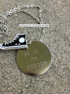 10 Is My Doctor Whovian Fandom Necklace