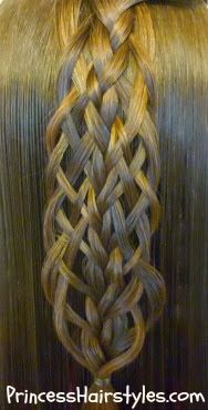 Scallop Braid With Woven Edge