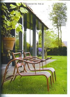 Leco Design mecedora tumbona para tomar el sol tumbona de jardín en cojines de naturaleza silla tumbona