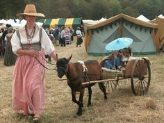 Goat cart rides at Ren Faire  *dansuehath