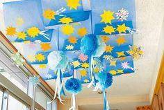 天の川の天井飾り 季節の製作 のページです。「PriPricafe(プリプリカフェ)」は売れ行きNO.1の月刊保育雑誌『PriPriプリプリ』(世界文化社 刊)が運営する保育WEBメディアです。「季節のお話」「ホッと読み物」「あそび」「保育を深める」など、役立つ情報や気持ちがアガる☆トピックスで保育者のかたをサポートします。