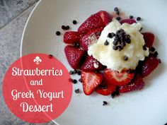 Domestic Bliss Squared: easy healthy summer strawberry dessert
