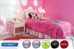 Minnie Mouse room for Macy's big girl room?