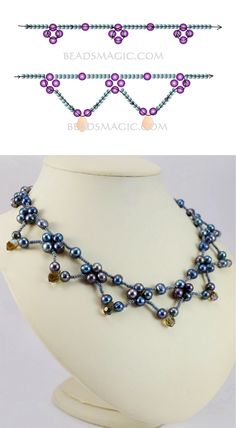 Free pattern for necklace Corina | Beads Magic