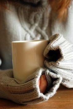 cozy sweaters, hot tea, mmmm :)