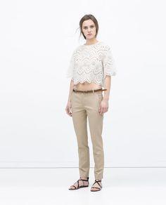 ZARA - WOMAN - DOUBLE CLOTH TROUSERS