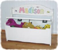 Childrens Personalized Toy Box And Deacons Bench