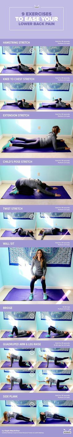 Exercises to ease your lower back pain...