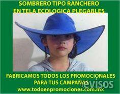 SOMBREROS PLEGABLES PERSONALIZADOS  Fabricamos sombreros plegables tipo ranchero, en tela ecológica, con 15 colores a escoger el de tu ...  http://cuajimalpa.evisos.com.mx/sombreros-plegables-personalizados-id-609684