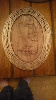 Oval Cribbage Boards by Chris Tasa