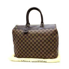 ee5e2d4e0e51d Louis Vuitton Greenwich PM Damier Ebene Handle bags Brown Canvas N41165