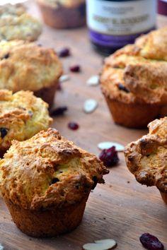 Healthy Orange Cranberry Oatmeal Muffins (easy gluten-free option)
