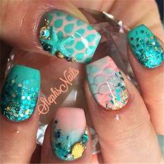 Beach Inspired Nail Art Designs 02