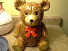 Bear Cookie Jar made in Japan by Otagiri
