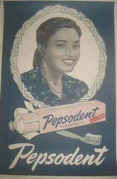 Pepsodent Vintage Branding, Vintage Ads, Vintage Posters, Vintage Stuff, Old Advertisements, Retro Advertising, Vintage Flower Arrangements, Old Scool, Indonesian Art