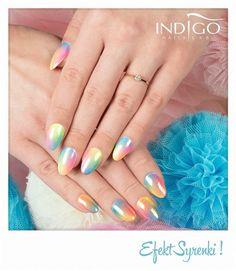 by Paulina Walaszczyk Indigo Educator - Follow us on Pinterest. Find more inspiration at www.indigo-nails.com #nailart #nails #indigo #syrenka #pastel #mermaid