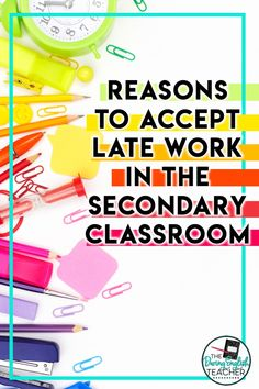 Do you accept late work? Here is a look at why I accept late work as a high school English teacher. Late work | Classroom Management | Teacher Advice | High School English Teacher | Classroom Strategies English Teacher Classroom, High School Classroom, English Language, Language Arts, Absent Work, Late Work, Professional Development For Teachers, First Year Teachers, High School English