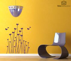 Wall Stickers Floral Hearts