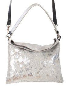 Owen Barry Silver Acido Cowhide Iggy 3 in 1 Crossbody / Clutch / Should Bag Handbag