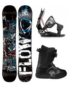 fbf816bea611 Flow Viper Men s Snowboard Package with Flite 1 Bindings and Flow Vega BOA  Boots 2013 Board