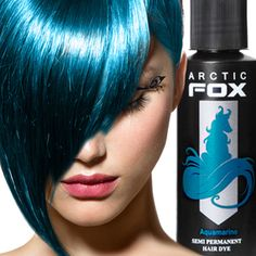 Arctic Fox Semi Permanent Hair Dye - Aquamarine (8oz)Bottle | Body Jewelry