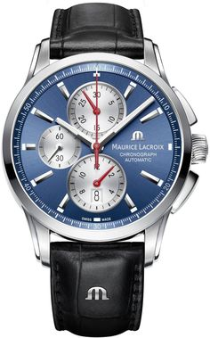 @mauricelacroix Watch Pontos Chronograph #add-content #bezel-fixed #bracelet-strap-leather #brand-maurice-lacroix #case-material-steel #case-width-43mm #checked #chronograph-yes #date-yes #delivery-timescale-call-us #dial-colour-blue #gender-mens #limited-code #luxury #movement-automatic #new-product-yes #official-stockist-for-maurice-lacroix-watches #packaging-maurice-lacroix-watch-packaging #style-dress #subcat-pontos #supplier-model-no-pt6388-ss001-430-1…