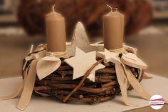 """Adventskranz - Adventskranz """"STERNTALERr"""" - ein Designerstück von CinnamonSwirl bei DaWanda"""