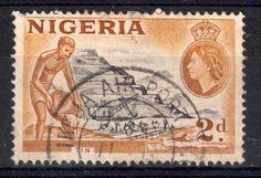 Tin | 2d stamp | stamped Ikeja Airport | Nigeria