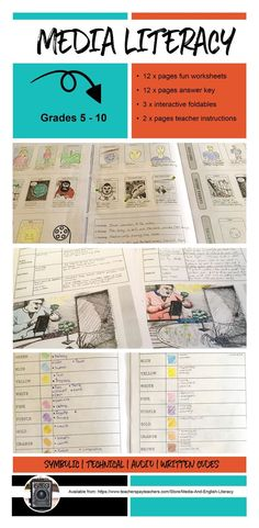 Use these media literacy activities to build a solid base for students in Grades 5-10 to learn critical media literacy terms. These include all of  the media codes – symbolic, written, audio and technical in a comprehensive teaching resource. The media li