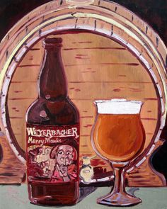 Beer Oil Painting of Merry Monks BelgianStyle by RealArtIsBetter