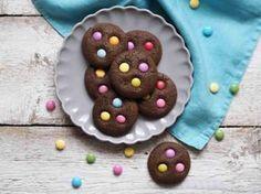 Čokoládové sušenky s lentilkami