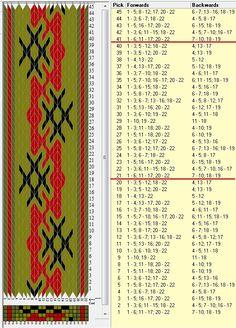 22 tarjetas, 4 colores, repite cada 20 movimientos // sed_424a diseñado en GTT༺❁