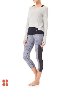 Style up your savasana. When you want more versatility from your yoga wear, these mid-calf capris from Sweaty Betty's new collection will give you precisely that! These reversible leggings bring versatile style to the yoga mat, with the option to wear geometric print or black. Click to update your workout wardrobe today.