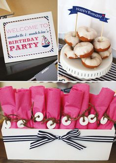 {Let's Set Sail} Nautical Birthday Party // Hostess with the Mostess®