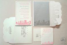 New York Wedding Invitations by Lela New York, new york themed invitations