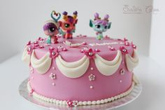 Little pet shop brithday cake. Princess, pinky cake. https://www.facebook.com/SistersCakesReposteriaCreativa http://sisterscakes.jimdo.com/